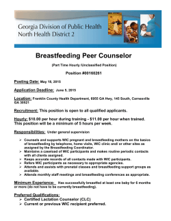 Breastfeeding Peer Counselor