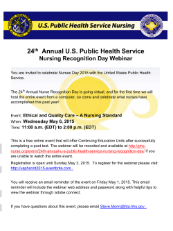 Help us celebrate the 24th Annual USPHS Nursing Recognition Day!