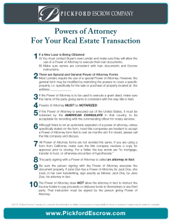Powers of Attorney-Pickford Escrow Company