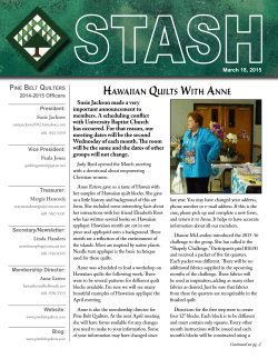 March Issue - Pine Belt Quilters