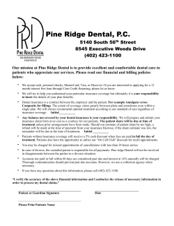 Office Policy - Pine Ridge Dental