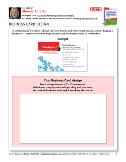 your business Card design