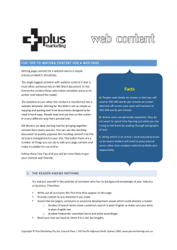 Writing for Web - Plus Marketing