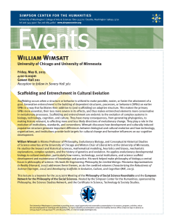 Scaffolding and Entrenchment in Cultural Evolution