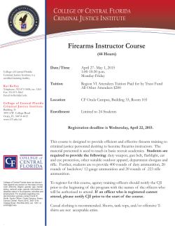 Firearms Instructor Course - College of Central Florida