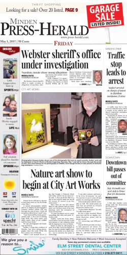 Nature art show to begin at City Art Works Webster sheriff`s office