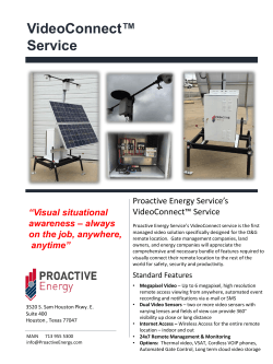 VideoConnect™ Service - Proactive Energy Services, Inc.