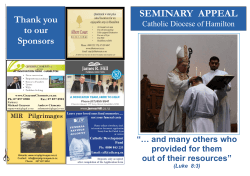 SEMINARY APPEAL - Catholic Diocese of Hamilton