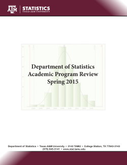 Department of Statistics Academic Program Review Spring 2015