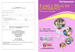 family health - International Journal of Public Health and Clinical