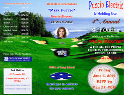 4th Annual Golf Outing