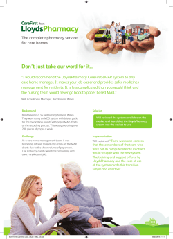 Case Study 2 - CareFirst from LloydsPharmacy
