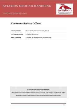 Customer Service Officer - Queensland Airports Limited