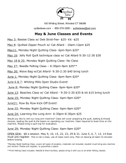 May & June Classes and Events