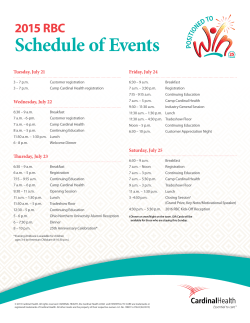 the schedule of events - Cardinal Health