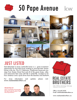 50 Pape Ave Just Listed Flyer
