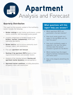 to the Apartment Analysis and Forecast brochure