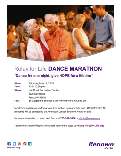 Relay for Life DANCE MARATHON - Rotary Club of Reno, Midtown