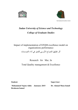 Sudan University of Science and Technology College of Graduate