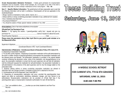 a middle school retreat for current 6th, 7th & 8th graders saturday