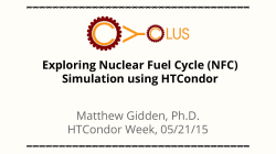 Simulation using HTCondor