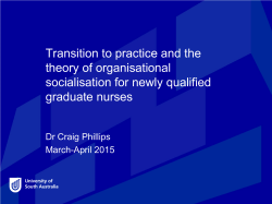 Transition to practice and the theory of organisational socialisation