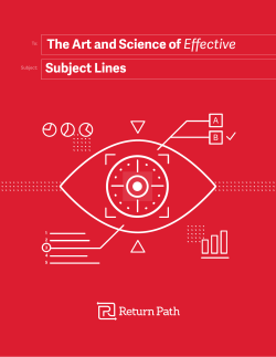 Subject Lines The Art and Science of Effective