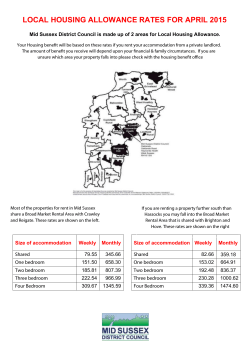 LOCAL HOUSING ALLOWANCE RATES FOR APRIL 2015