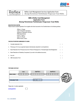 SME-2-Reflex Cash Management Application Form Borang