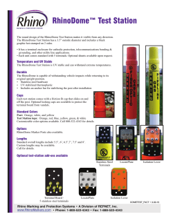 RhinoDome™ Test Station - Rhino Marking and Protection Systems