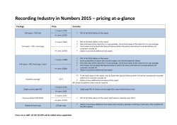 Recording Industry in Numbers 2015 – pricing at