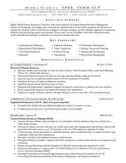 Resume - Rhode Island SHRM - Society for Human Resource