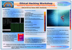 Ethical Hacking Workshop on 24th April, 2015
