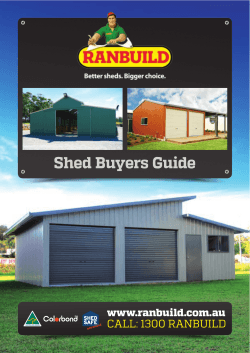 Shed Buyers Guide