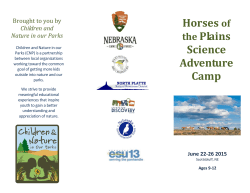 Horses of the Plains Science Adventure Camp