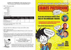 James Patterson Live Booking Form
