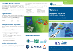 Flyer Workshop 2 - Reduced Basis, POD and PGD Model Reduction