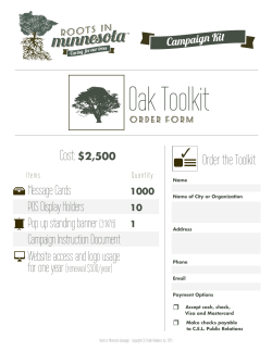 Order the Toolkit - Roots in Minnesota