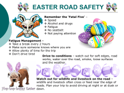 WHS Alert – Easter Road safety