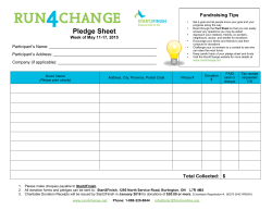 a Printable Pledge Sheet