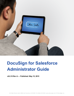 DocuSign for Salesforce Administrator Guide