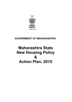 Maharashtra State New Housing Policy & Action Plan, 2015