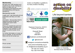Life beyond barriers - Action on Disability