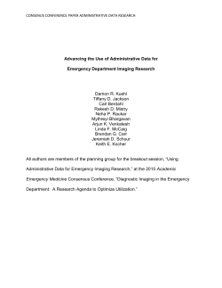 Advancing the Use of Administrative Data for Emergency