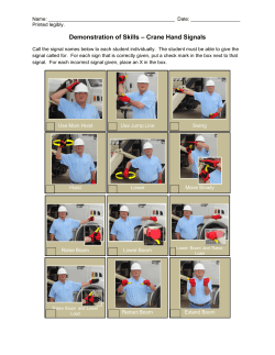 Practical Exam - Hand Signals