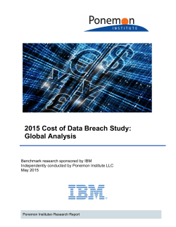 2015 Cost of Data Breach Study: Global Analysis