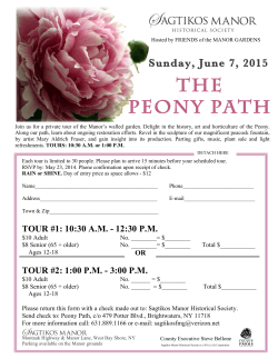 THE PEONY PATH - Sagtikos Manor