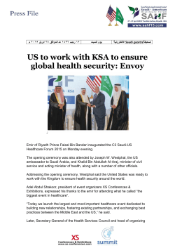 US to work with KSA to ensure global health security: Envoy