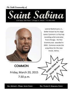 COMMON - Saint Sabina Church