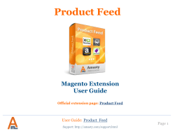 Product Feed Magento Extension by Amasty | User Guide